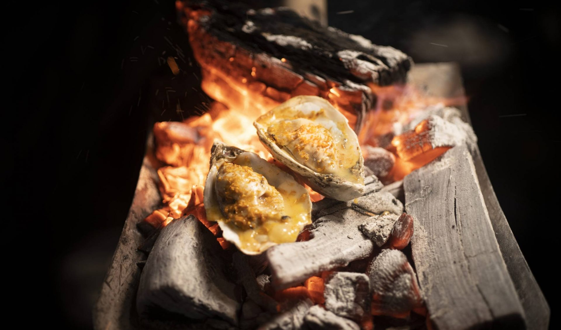 Grilled Irish Oysters Nage